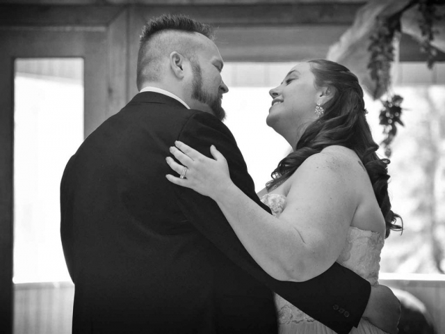 Melissa Lanasa and Darrell Adam Stallings married at Cove Lake Community Center on April 9, 2016. The couple enjoys their first dance together as man and wife.photos by Brianna Bivens - 2016