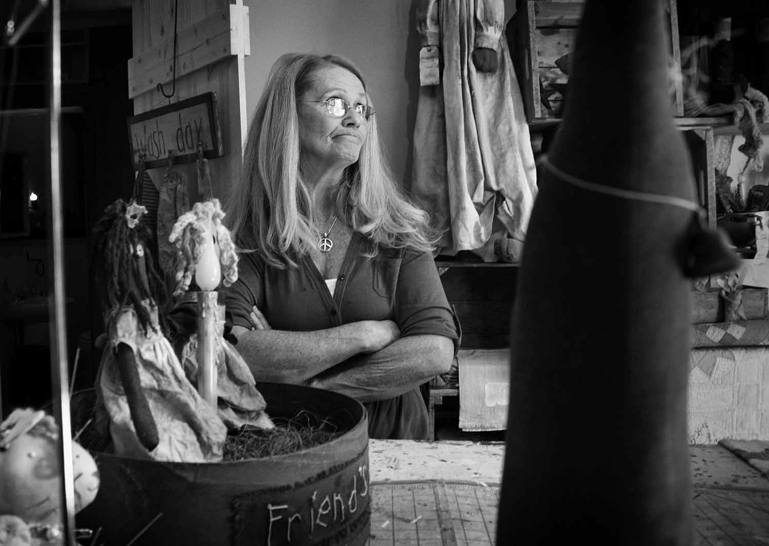 Self-taught artist Ann Smiddy plans on selling a vast range of affordable pieces from her home studio within the year. photo by Hope Cronin - 2011