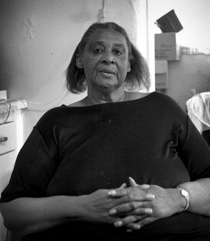 Laura Jernigan is one of the five African Americans still living in LaFollette. Jernigan has lived in the same house for more than 20 years. photo by Lauren Boyd - 2007