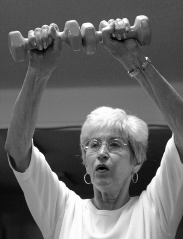 For Thelma McCreary, lifting weights is just another Friday. photo by Brittany Moore - 2011