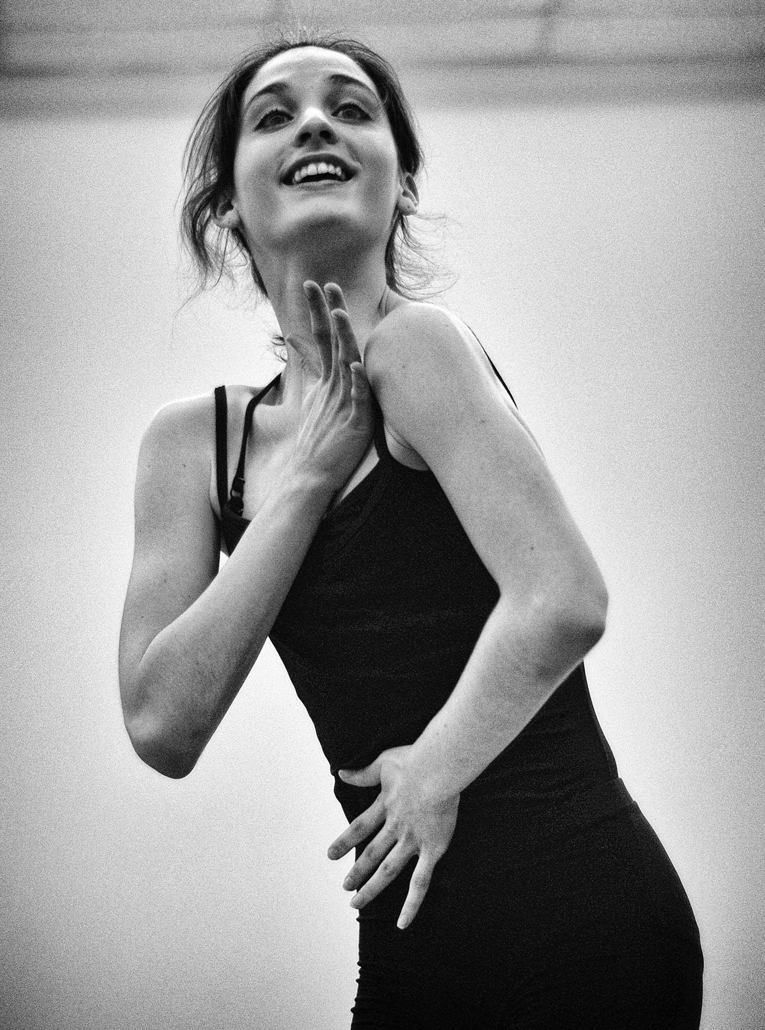 Shayla Poynter strikes a pose at the studio in Jacksboro. photo by Logan White - 2014