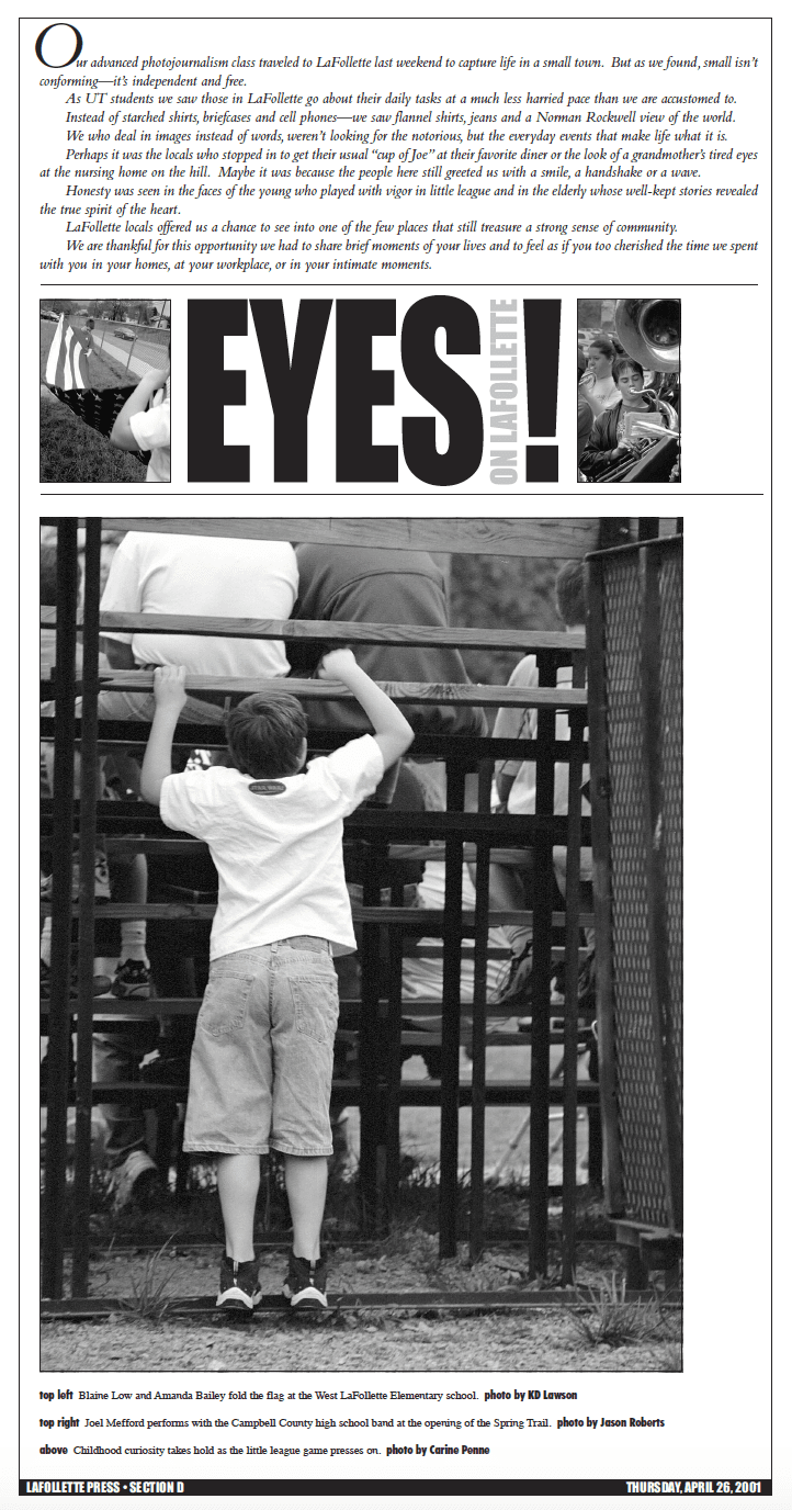 2001 Eyes On LaFollette issue