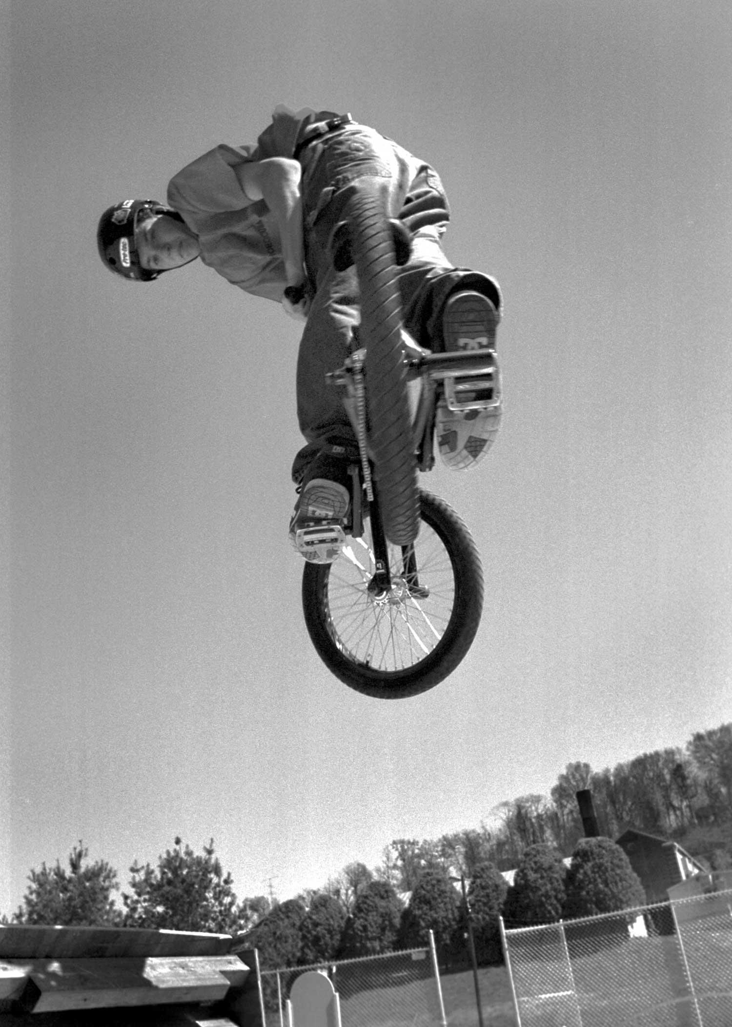 Jerry Bitterlick looks to nail the landing. photo by Matt Vodraska - 2004