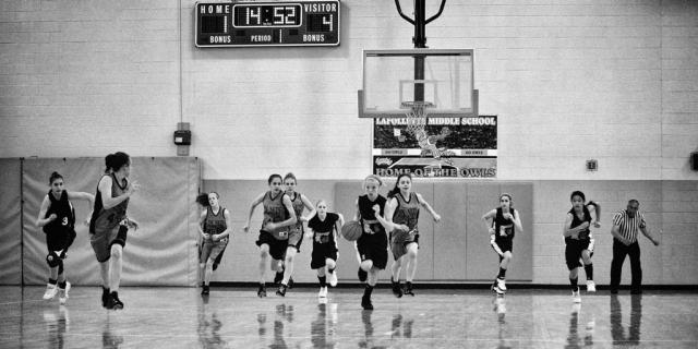 Girls Basketball.  photo by Demetric Banahene - 2008