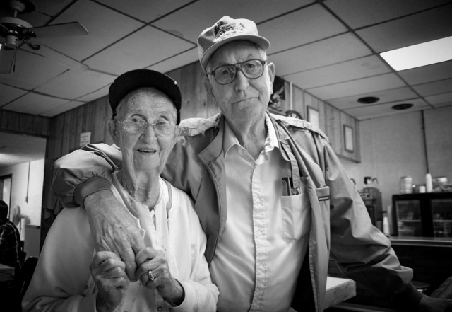 """Mildred """"Mama"""" and Sill Rutherford are the proud owners of Mama's Place in downtown La Follette. photo by Molly Morgan - 2013"""